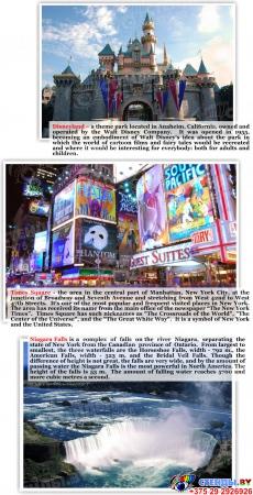 Комплект из 3-х стендов Австралия,США, Великобритания для кабинета английского языка в фиолетовых тонах 700*850мм Изображение #11