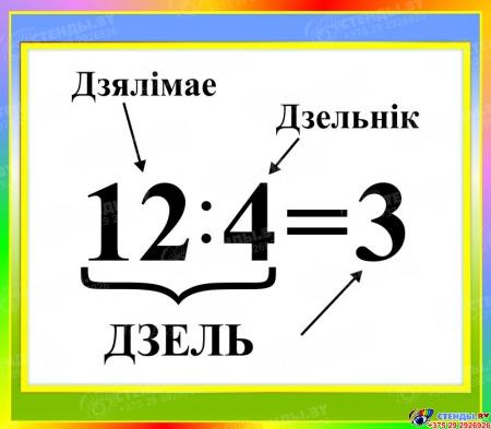 Стенд Дзель на белорусском языке 400*350мм