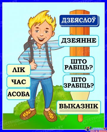 Стенд Дзеяслоў для начальных классов на белорусском языке 420*520мм