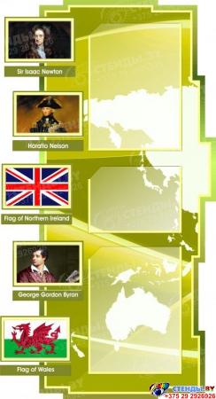 Стенд в кабинет английского языка на анлийском в оливковых тонах 1800*995мм Изображение #3
