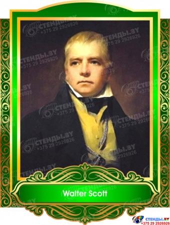 Комплект портретов  Знаменитые Британцы для кабинета английского языка в золотисто-зеленых 260*350 мм Изображение #6