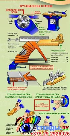 Стенд Габляванне драўніны для кабинета труда на белорусском языке 900х700 мм Изображение #3