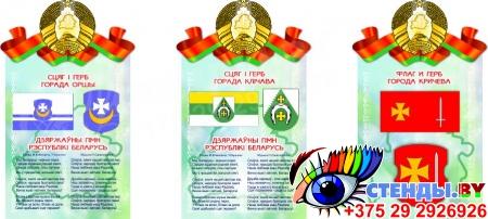Стенд Герб, Гимн, Флаг Минска (Вашего города)  500*305мм Изображение #2