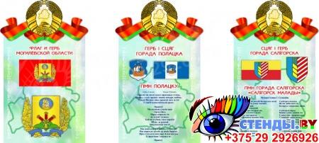 Стенд Герб, Гимн, Флаг Минска (Вашего города)  500*305мм Изображение #3