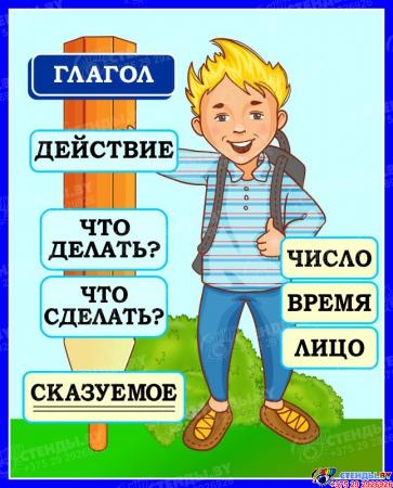 Стенд Глагол для начальной школы 420*520 мм