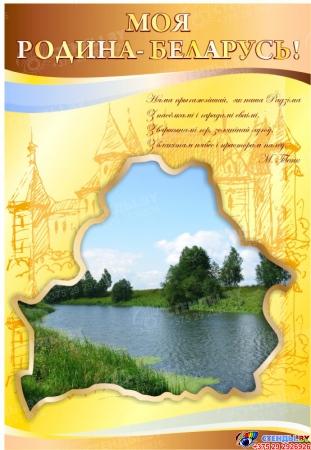 Стенд  История - учитель жизни в кабинет истории золотисто-коричневый с изображением природы  1700*770мм Изображение #1