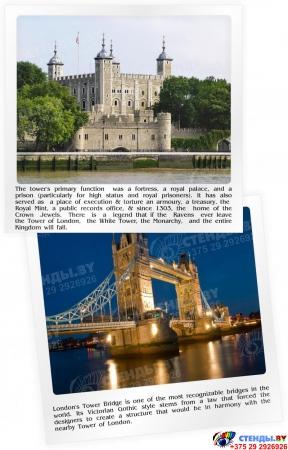 Стенд  Информационный в кабинет английского языка в голубых тонах 1500*700мм Изображение #8