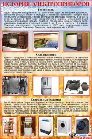 Стенд История электроприборов 1000*1500 мм