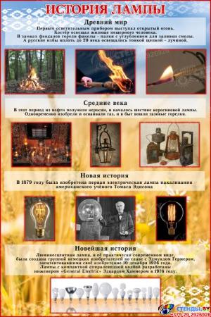 Стенд История лампы 1000*1500 мм