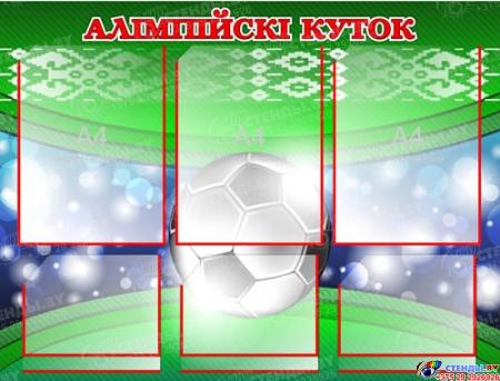 Стенд Олимпийский уголок зеленый 760*600 мм Изображение #1