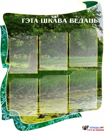 Стенд для кабинета белорусского языка и литературы Скарбы мовы 1650 х1000 мм Изображение #1