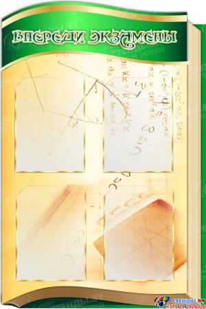 Стендовая  композиция В свете математики в золотисто-зеленых тонах 2800*990мм Изображение #2