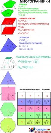 Стенд Геометрия для кабинета математики 1120*1000мм Изображение #3