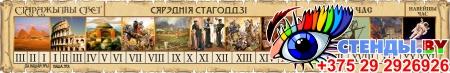 Стенд Лента времени на фоне свитка на белорусском языке 2070*340мм
