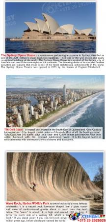 Стенд Австралия для кабинета английского языка в фиолетовых тонах 700*850мм Изображение #2