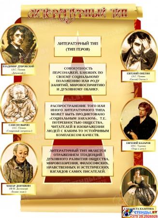 Композиция Типы литературных героев для кабинета русского языка и литературы 1640*2120 мм Изображение #4
