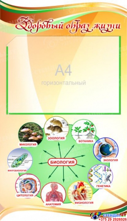 Стенд фигурный Биология - наука о жизни! 1900*900мм Изображение #5