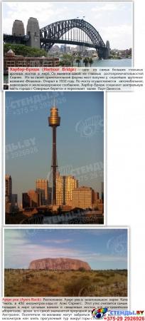 Стенд Достопримечательности Австралии 750*600мм Изображение #2