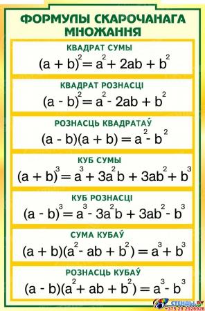 Стенд  Матэматыка вакол нас с формулами в кабинет Математики  1800*995мм Изображение #2