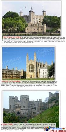 Стенд UNITED KINGDOM в зеленых тонах в кабинет английского языка 600*750 мм Изображение #1