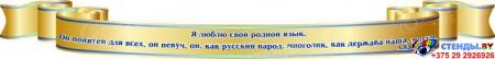 Композиция для кабинета русского языка и литературы в золотисто-синих тонах 3950*1590 мм Изображение #4