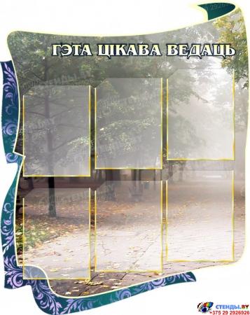 Стенд для кабинета белорусского языка и литературы Скарбы мовы с парком 1650 х1000 мм Изображение #2