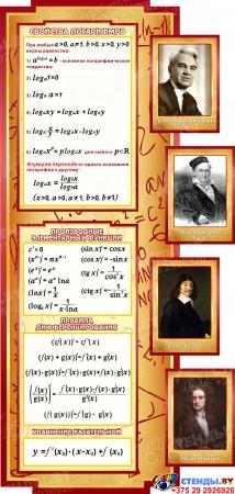 Стенд в кабинет Математики Математика вокруг нас с формулами  2506*957мм Изображение #1
