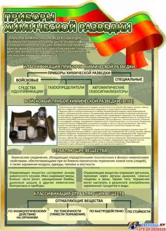 Стенд Приборы химической разведки 680*950 мм