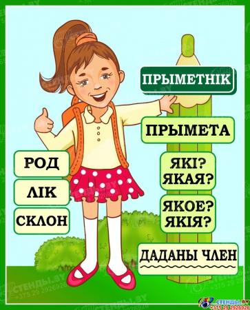 Стенд Прыметнiк для начальных классов на белорусском языке 420*520мм