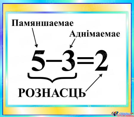Стенд Рознасць в бирюзовых тонах на белорусском языке 400*350мм