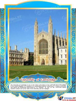 Комплект стендов Достопримечательности Великобритании в золотисто-голубых тонах 265*350 мм, 280*350 мм Изображение #6