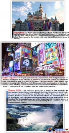 Стенд The United States of America для кабинета английского языка 700*850мм Изображение #1