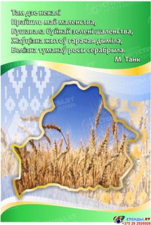 Стенд  Мая Радзiма - Беларусь зеленый 1550*770мм Изображение #1