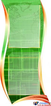 Стендовая композиция В мире информатики в кабинет информатики в зеленых тонах 2510*1050мм Изображение #1
