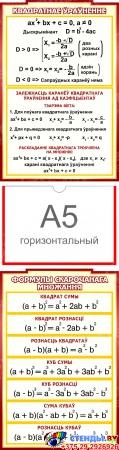 Стенд Матэматыка вакол нас с расширенными формулами на белорусском языке 2506*957 мм Изображение #3