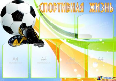 Стенд Спортивная жизнь - Футбол 1000*700 мм