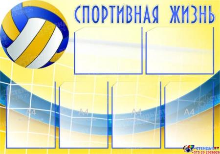 Стенд Спортивная жизнь - Волейбол 1000*700 мм