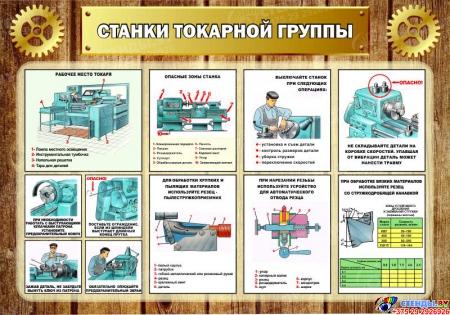 Стенд Станки токарной группы в кабинет трудового обучения 1000*700мм