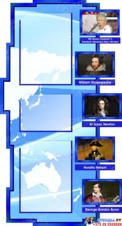 Стенд в кабинет английского языка в синих тонах  1800*995мм Изображение #2