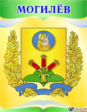 Комплект стендов Гербы областей Республики Беларусь в светло-зеленых тонах 460*550мм Изображение #6