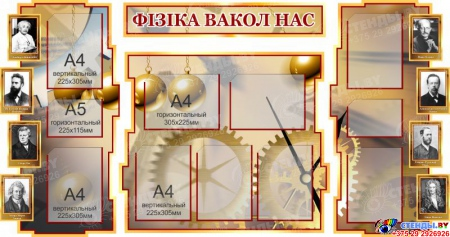 Стенд в кабинет Физики Фiзiка вакол нас на белоруском языке 1800*995мм