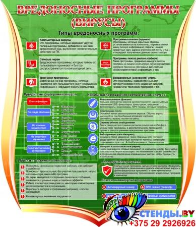 Стенд Вредоносные программы (вирусы) 1000*1150 мм