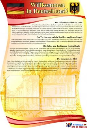 Стенд фигурный INTERESSANTE TATSACHEN в кабинет немецкого языка в бордово-золотистых тонах  1650*770мм Изображение #3