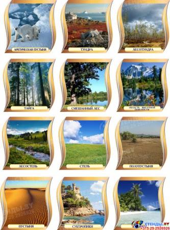 Комплект стендов для кабинета географии Путешествие Вокруг Света в бежево-коричневых тонах Изображение #6