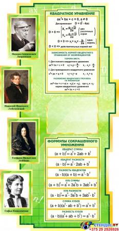 Стенд в кабинет Математики Математика вокруг нас с формулами зеленый 1800*995мм Изображение #2