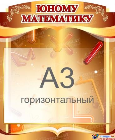 Стенд  Юному математику с карманом А3 460*560 мм