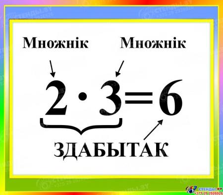 Стенд Здабытак на белорусском языке 400*350мм