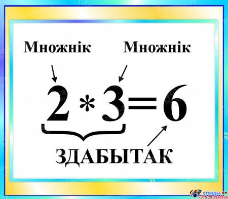 Стенд Здабытак  в бирюзовых тонах на белорусском языке 400*350мм