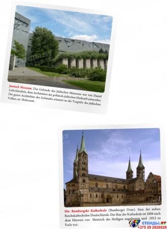 Стенд  Информационный в кабинет немецкого языка в золотисто-сиреневых тонах 1500*700мм Изображение #7