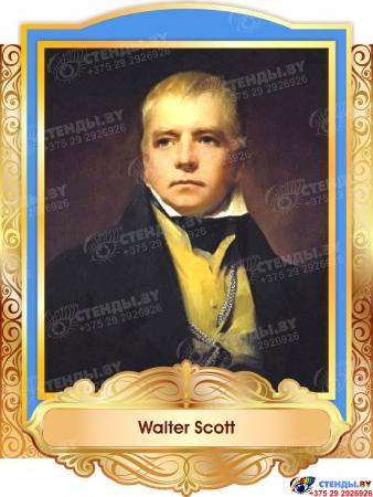 Комплект портретов портретов Знаменитые Британцы  в золотисто-голубых тонах 260*350 мм Изображение #3
